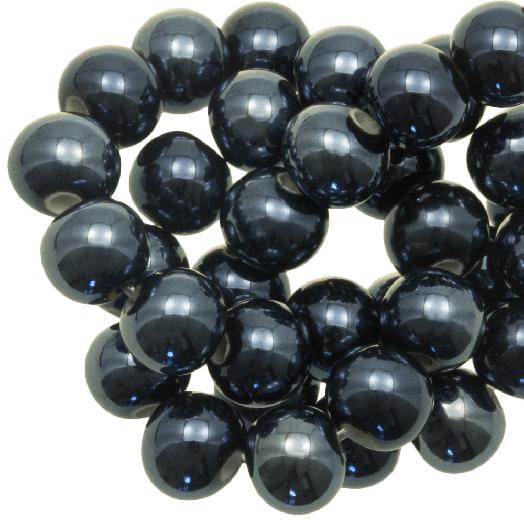Keramiek Kralen (8 mm) Petrol (25 Stuks)