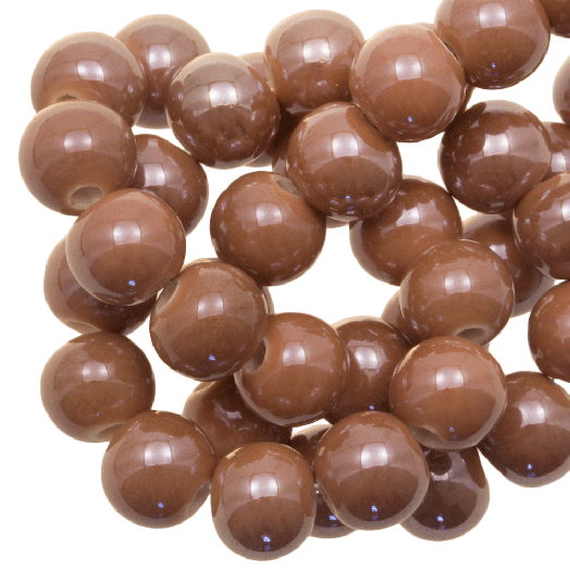 Keramiek Kralen (8 mm) Tan Brown (25 Stuks)