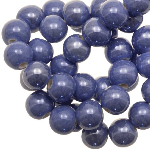 Keramiek Kralen (8 mm) Denim Blue (25 Stuks)