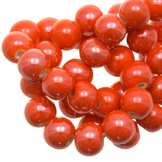 Keramiek Kralen (8 mm) Bright Orange (25 Stuks)
