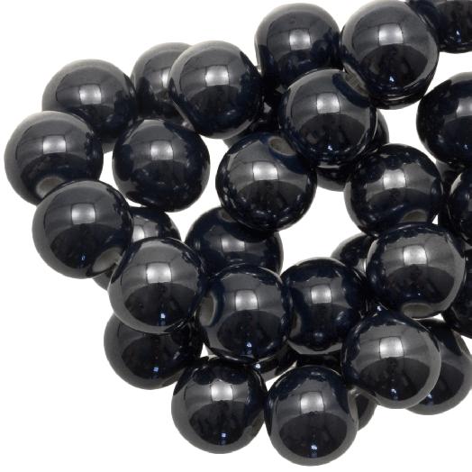 Keramiek Kralen (8 mm) Black (25 Stuks)