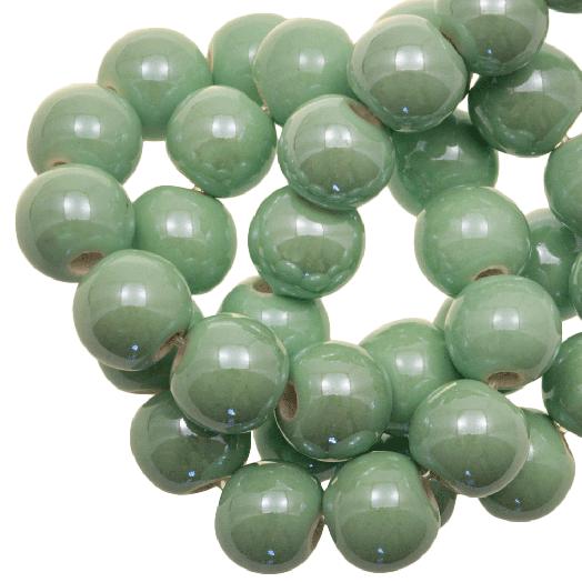 Keramiek Kralen (8 mm) Mint Green (25 Stuks)