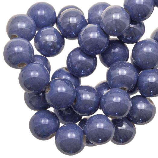 Keramiek Kralen (10 mm) Denim Blue (20 Stuks)