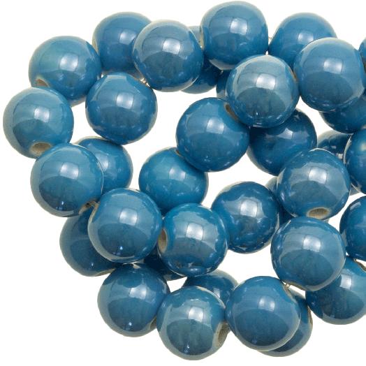 Keramiek Kralen (10 mm) Sky Blue (20 Stuks)