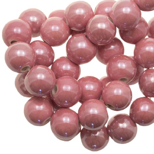 Keramiek Kralen (10 mm) Light Pink (20 Stuks)