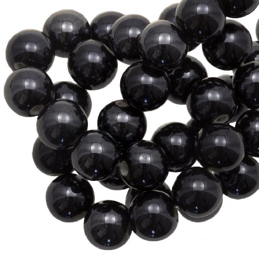 Keramiek Kralen (10 mm) Black (20 Stuks)
