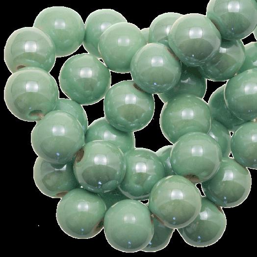 Keramiek Kralen (10 mm) Mint Green (20 Stuks)