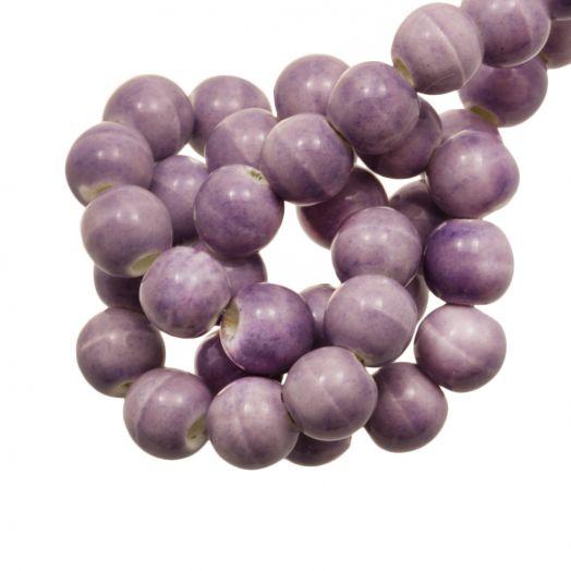 Keramiek Kralen (6 mm) Marble Lilac (15 Stuks)