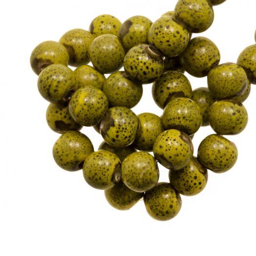 Keramiek Kralen (6 mm) Spotted Lime (15 Stuks)