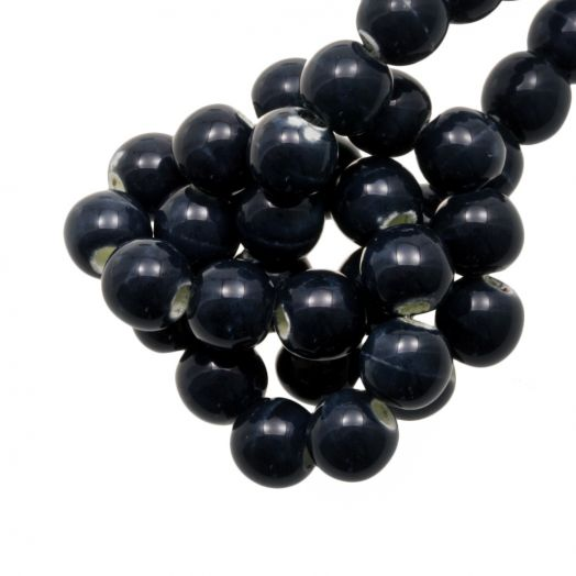 Keramiek Kralen (6 mm) Marble Dark Blue (15 Stuks)