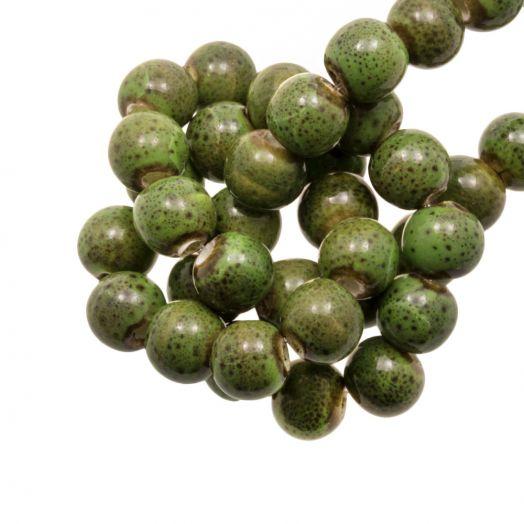 Keramiek Kralen (6 mm) Spotted Green (15 Stuks)