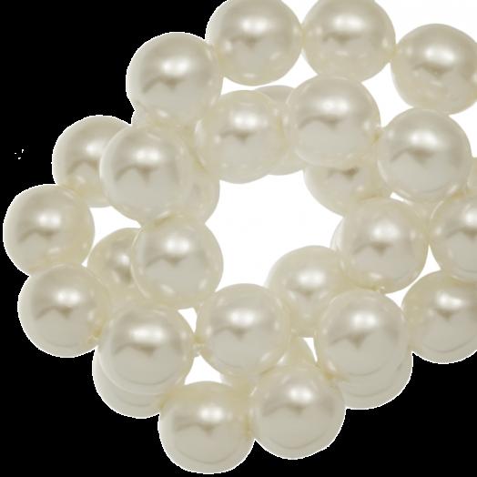 DQ Glasparels (4 mm) Broken White Shine (110 Stuks)