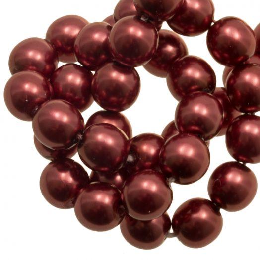 DQ Glasparels (8 mm) Red Copper Shine (75 Stuks)