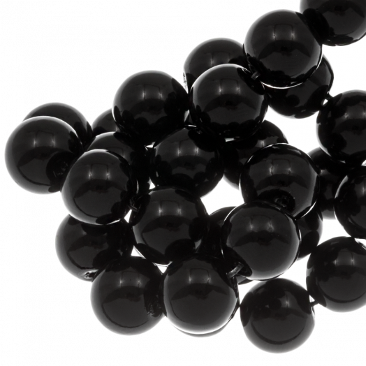 Glasparels (8 mm) Black (100 Stuks)