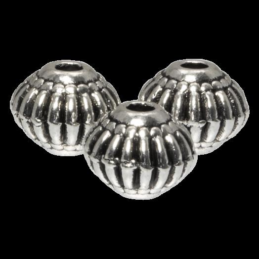 Metalen Kralen (8 x 6.5 mm) Antiek Zilver (20 Stuks)