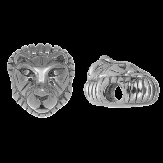 Stainless Steel Kralen (12 x 8 mm) Antiek Zilver (1 Stuk)