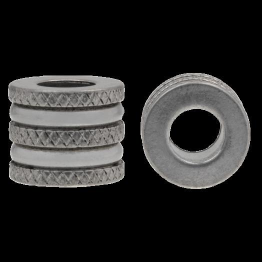 Stainless Steel Kralen Groot Gat (12 x 10 mm) Antiek Zilver (5 Stuks)