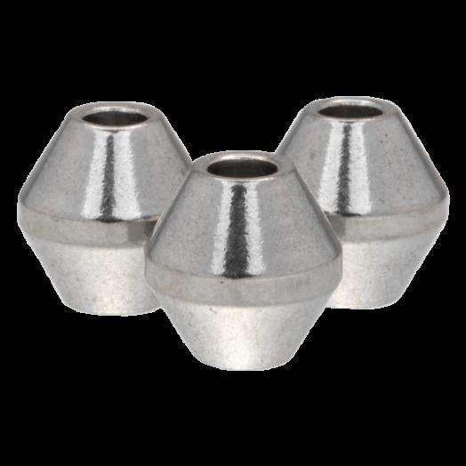 Stainless Steel Kralen (8 x 8 mm) Antiek Zilver (5 Stuks)