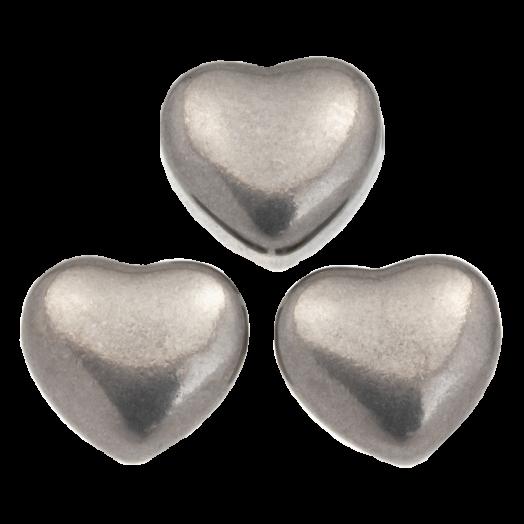 Stainless Steel Kralen (11 x 5.5 mm) Antiek Zilver (5 Stuks)
