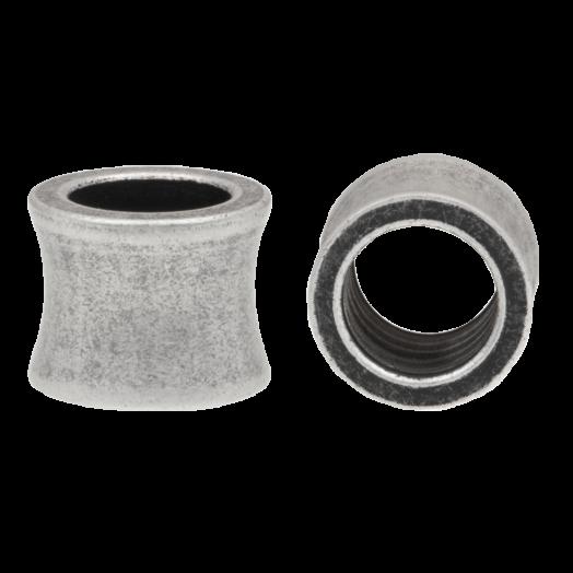 Stainless Steel Kralen Groot Gat (10 x 8 mm) Antiek Zilver (1 Stuk)