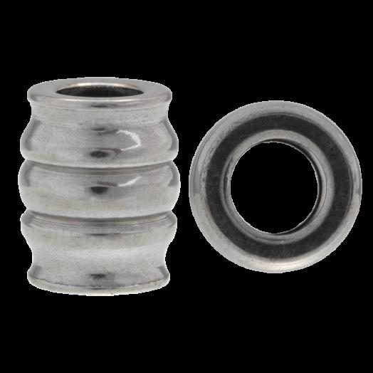 Stainless Steel Kralen Groot Gat (15 x 11 mm) Antiek Zilver (4 Stuks)