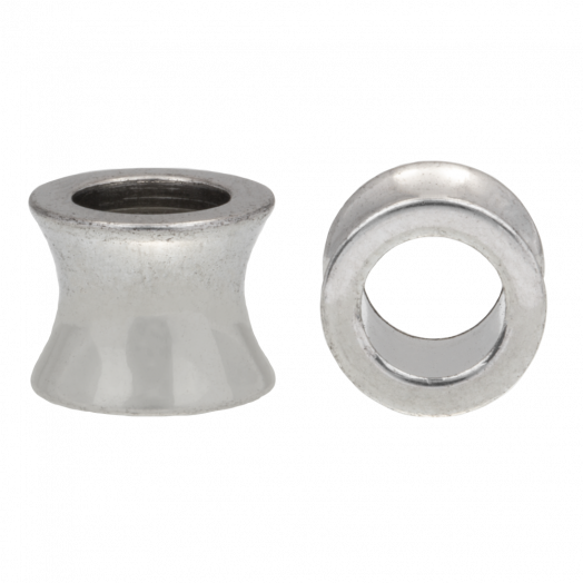 Stainless Steel Kralen Groot Gat (11 x 8 mm) Antiek Zilver (5 Stuks)