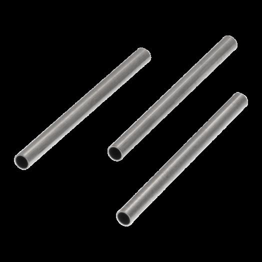 Stainless Steel Buisje (20 x 1.5 mm) Antiek Zilver (25 stuks)