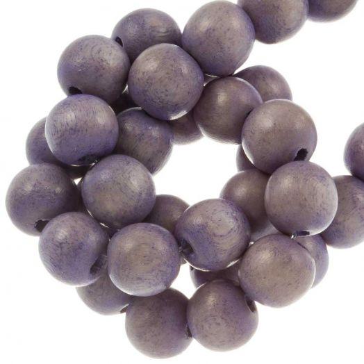 Houten Kralen Vintage Look (8 mm) Purple Haze (208 stuks)