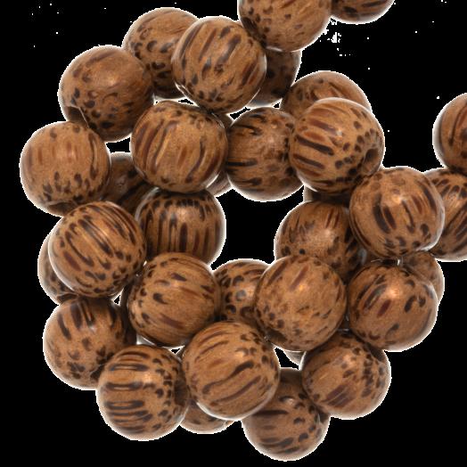 Houten Kralen Natural Look (10 mm) Palmwood (41 stuks)
