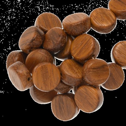 plat ronde kralen hout