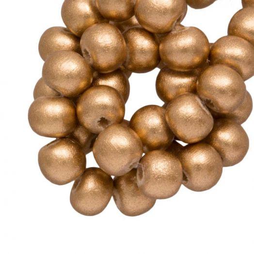 Houten Kralen Metallic Look (6 mm) Gold (280 stuks)