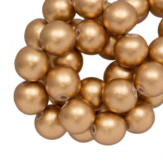 Houten Kralen Metallic Look (16 mm) Gold (25 stuks)