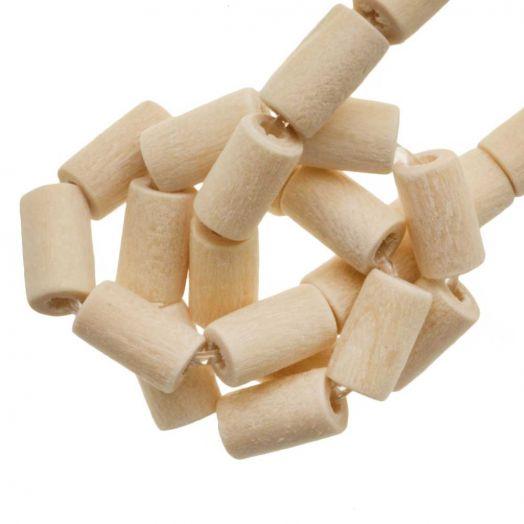 blanke houten kralen
