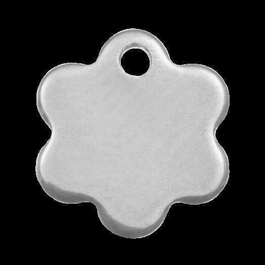 Stainless Steel Bedel Bloem (9 x 8 mm) Antiek Zilver (20 Stuks)
