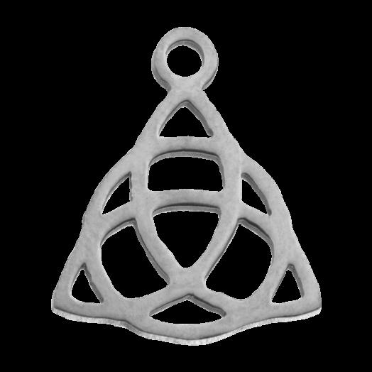 Stainless Steel Bedel Knoop (14 x 11 mm) Antiek Zilver (4 Stuks)