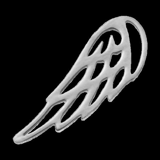 Stainless Steel Bedel Vleugel (17 x 6 mm) Antiek Zilver (4 Stuks)