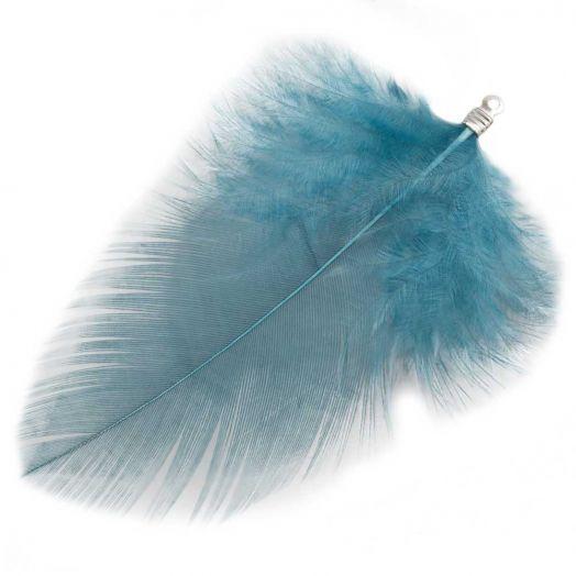 Veertjes (7 cm) Blue Teal (10 Stuks)