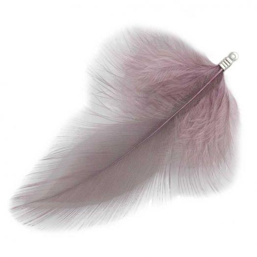 Veertjes (7 cm) Mountbatten Pink (10 Stuks)