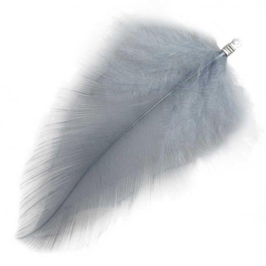 Veertjes (7 cm) Blue Grey (10 Stuks)