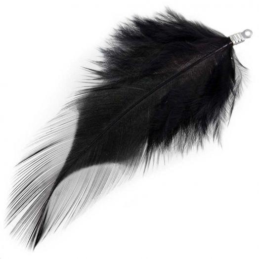 Veertjes (7 cm) Black (10 Stuks)