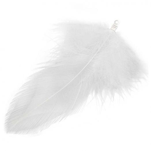Veertjes (7 cm) White (10 Stuks)