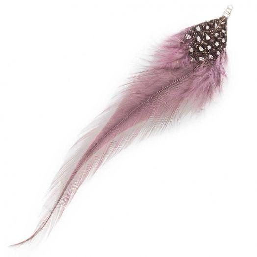 Veertjes (10 cm) Dots Mountbatten Pink (10 Stuks)