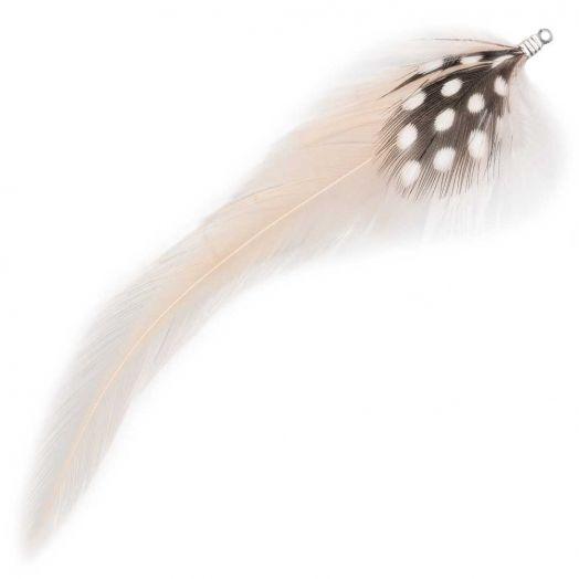 Veertjes (10 cm) Dots Nude (10 Stuks)