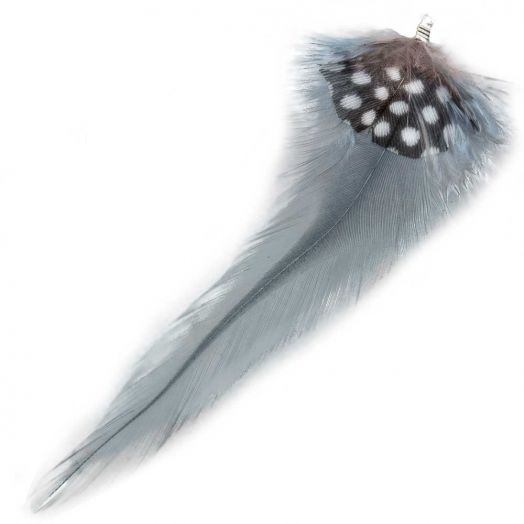 Veertjes (10 cm) Dots Blue Grey (10 Stuks)