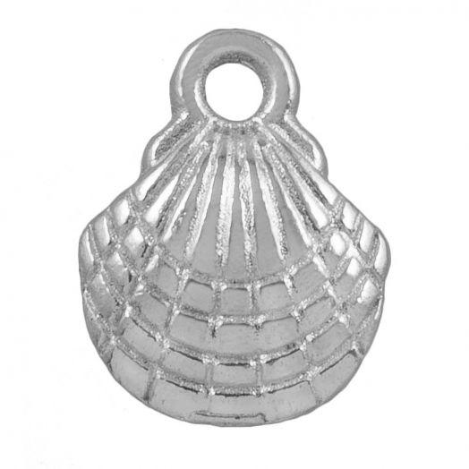 Bedel Schelp (13 x 10 mm) Antiek Zilver (25 Stuks)