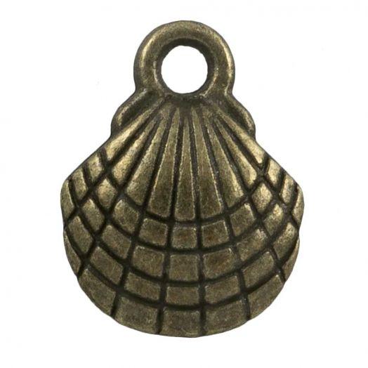 Bedel Schelp (13 x 10 mm) Brons (25 Stuks)