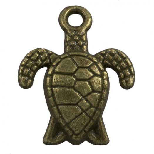 Bedel Schildpad  (16 x 8 mm) Brons (25 Stuks)
