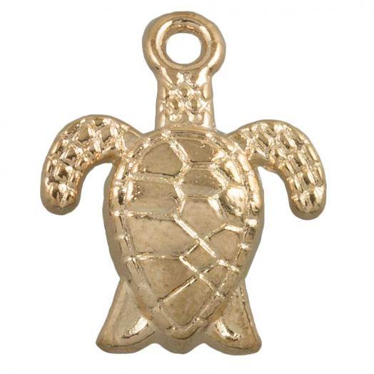 Bedel Schildpad  (16 x 8 mm) Goud (25 Stuks)