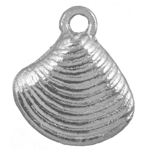 Bedel Schelp (14 x 13 mm) Antiek Zilver (25 Stuks)