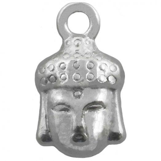 Bedel Buddha (14 x 8 mm) Antiek Zilver (25 Stuks)